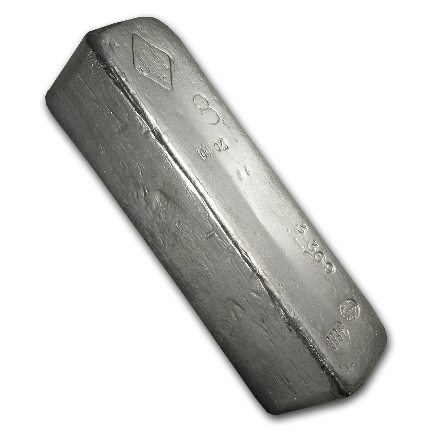 100 oz Silver Bar - Johnson Matthey (Canada, Vintage, Large 8)